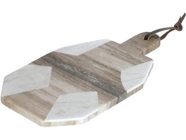 Kave Home - Plateau Vanina octogonal en marbre blanc et gris