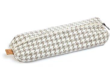 Trousse Foa tissu beige imprimé taupe avec fermeture éclair