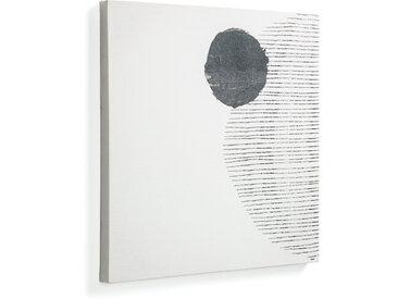 Kave Home - Tableau grand Prism 50 x 50 cm format fond blanc