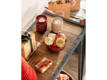 Kave Home - Set de 2 bougeoirs Leti bordeaux et rose