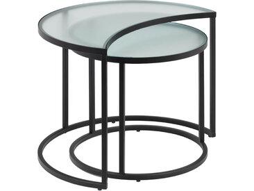 Kave Home - Ensemble Bast de 2 tables d'appoint