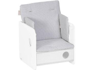 Kave Home - Coussin de chaise haute Nuun 100% coton (GOTS) rayures bleu