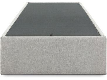 Kave Home - Sommier coffre Matter 90 x 190 cm gris