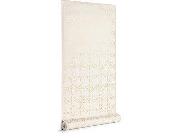 Kave Home - Papier peint Viveka beige et doré 10 x 0,53 m