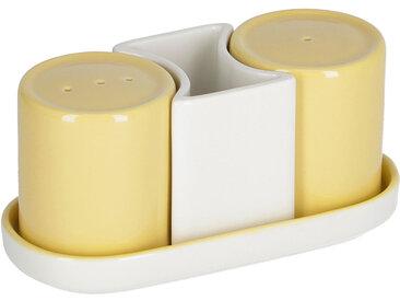 Kave Home - Lot Midori salière et poivrière céramique jaune