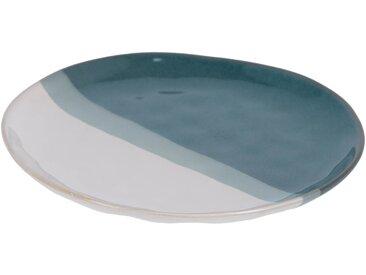 Kave Home - Assiette à dessert Nelba blanc et bleu