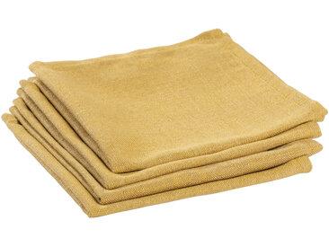 Kave Home - Lot de 4 serviettes de table Samay moutarde