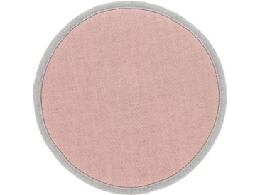 Kave Home - Galette de chaise ronde Prisca rose Ø 35 cm