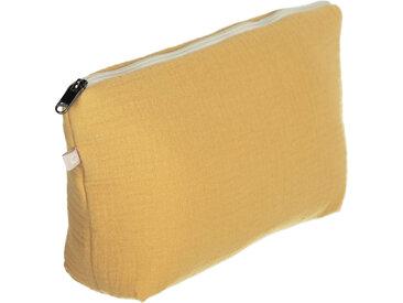 Kave Home - Trousse de toilette Breisa 100% coton (GOTS) moutarde