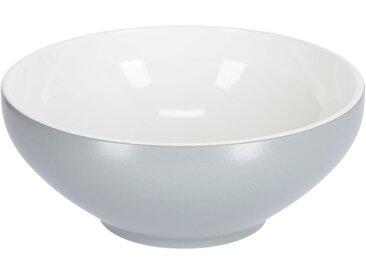 Kave Home - Bol Sadashi grand en porcelaine blanc et gris