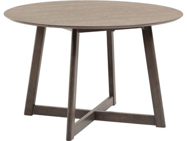 Kave Home - Table extensible Maryse 70 (120) x 75 cm finition en frêne