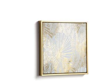 Kave Home - Tableau Ibisco 40 x 40 cm doré