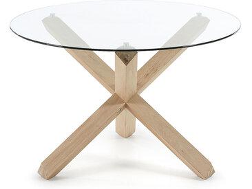 Kave Home - Table Lotus Ø 120 cm verre