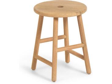 Kave Home - Table d'appoint ronde Huara en bois massif d'eucalyptus de Ø 35cm FSC 100%