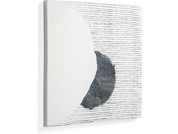 Kave Home - Tableau grand Prism 50 x 50 cm format fond gris