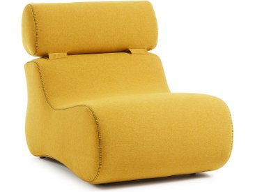 Kave Home - Fauteuil Club moutarde