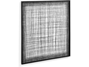 Kave Home - Tableau métallique Christine 79 x 79 cm