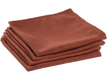 Kave Home - Lot de 4 serviettes de table Samay grenat