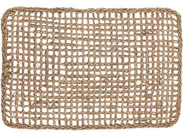 Kave Home - Paillasson d'entrée Yariela fibres naturelles 60 x 40 cm