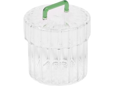 Kave Home - Bocal Gretel en verre transparent et vert
