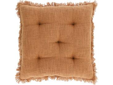 Kave Home - Coussin de chaise Brunela 100% coton marron 45 x 45 cm