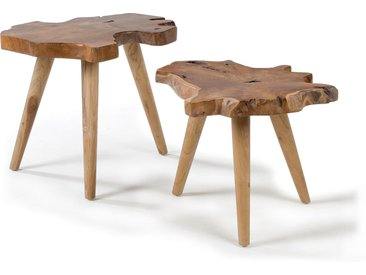 Kave Home - Set Hattie de 2 tables d'appoint