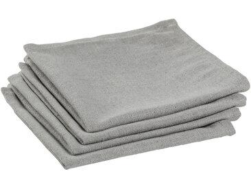 Kave Home - Lot de 4 serviettes de table Samay gris