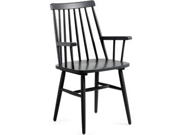 Kave Home - Chaise avec accoudoirs Tressia noir