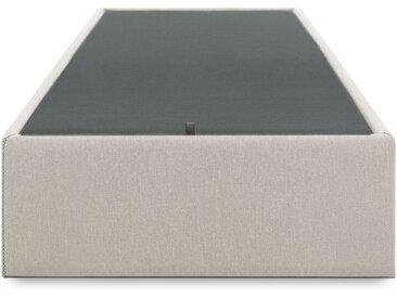 Kave Home - Sommier coffre Matter 90 x 190 cm beige