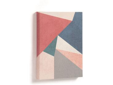 Kave Home - Tableau Kyrene 28 x 35 cm triangle rouge