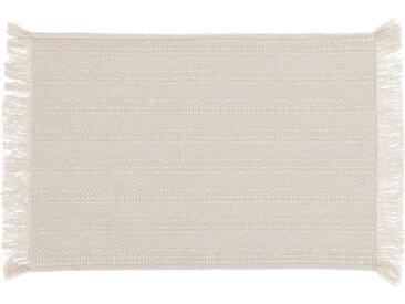 Kave Home - Lot Aicha de 2 sets de table 100% coton avec franges beige 35 x 50 cm