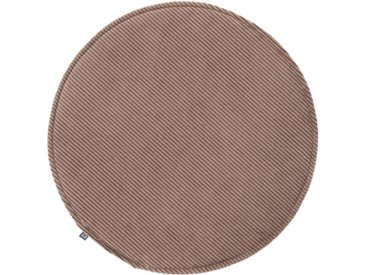 Kave Home - Galette de chaise ronde Sora velours côtelé marron Ø 35 cm