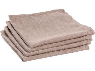 Kave Home - Lot de 4 serviettes de table Samay rose