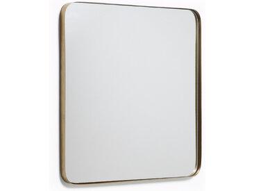 Kave Home - Miroir mural Marco métal doré 60 x 60 cm