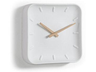 Kave Home - Horloge murale carré Wana 26 x 26 cm