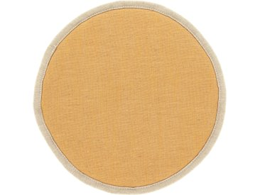 Kave Home - Galette de chaise ronde Prisca moutarde Ø 35 cm