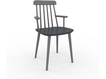 Chaise avec accoudoirs anthracite de 43 x 82 x 53 cm au design unique, configurable