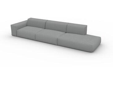 Canapé convertible - Grège, design arrondi, canapé lit confortable, moelleux et lit confortable - 370 x 72 x 107 cm, modulable