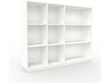 Range CD - Blanc, design contemporain, meuble pour vinyles, DVD - 154 x 124 x 35 cm, personnalisable