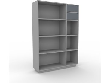 Bibliothèque - Gris, modèle tendance, rangements pour livres, avec tiroir Anthracite - 116 x 162 x 35 cm, modulable