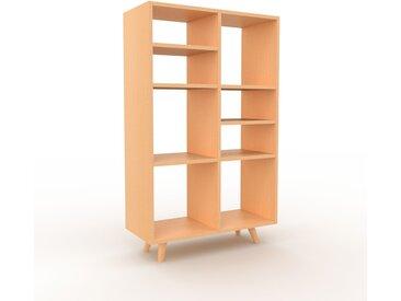 Bibliothèque - Hêtre, design, étagère pour livres, sophistiquée, ouverte et fonctionelle - 79 x 130 x 35 cm, personnalisable