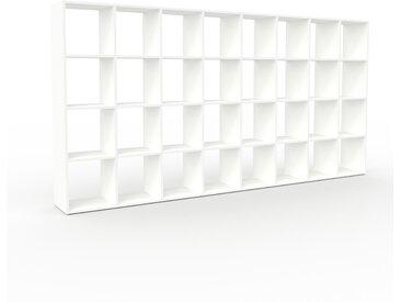 Bibliothèque - Blanc, design, étagère pour livres, sophistiquée, ouverte et fonctionelle - 310 x 157 x 35 cm, personnalisable