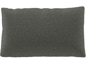 Coussin Gris Ciment - 30x50 cm - Housse en Laine chinée. Coussin de canapé moelleux