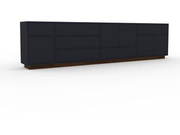 Enfilade - Anthracite, design, buffet, avec porte Anthracite et tiroir Anthracite - 265 x 66 x 35 cm