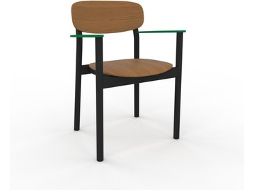 Chaise avec accoudoirs Chêne de 52 x 82 x 58 cm au design unique, configurable