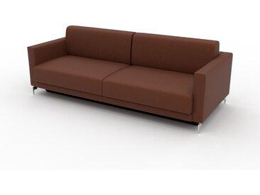 Canapé convertible - Cognac, design épuré, canapé lit confortable, confortable avec coffre de rangement - 224 x 75 x 98 cm, modulable