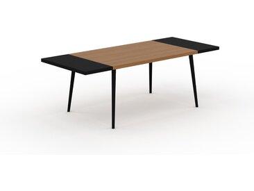 Table à manger - Chêne, design scandinave, pour salle à manger ou cuisine nordique, table extensible à rallonge - 220 x 75 x 90 cm
