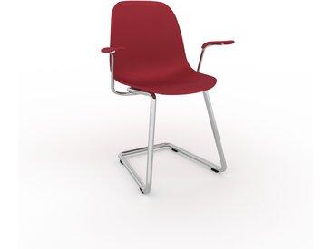 Chaise cantilever Rouge bordeaux de 49 x 82 x 62 cm au design unique, configurable