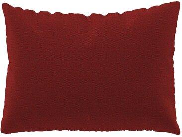 Coussin Orange Sanguine - 48x65 cm - Housse en Laine chinée. Coussin de canapé moelleux