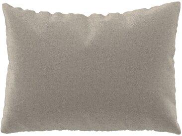 Coussin Blanc Naturel - 48x65 cm - Housse en Laine. Coussin de canapé moelleux